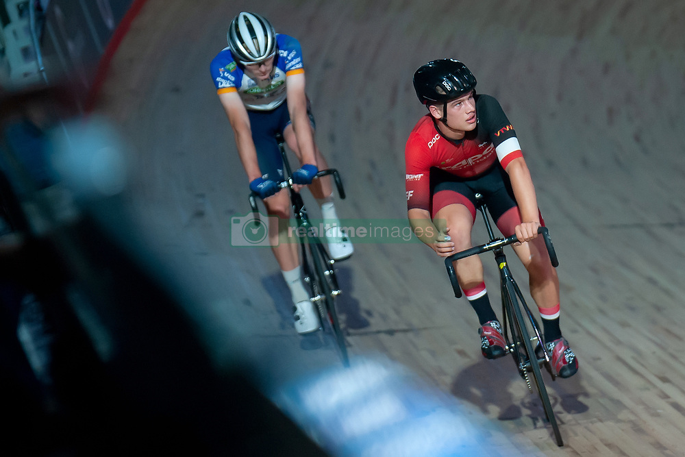 February 8, 2019 - Melbourne, VIC, U.S. - MELBOURNE, VIC - FEBRUARY 08: Isaac Buckell looks on during the 40km Madison Talent Cup Race at The Six Day Cycling Series on February 08, 2019 at Melbourne Arena, VIC. (Photo by Speed Media/Icon Sportswire) (Credit Image: © Speed Media/Icon SMI via ZUMA Press)