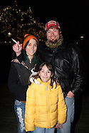 December 6, 2012. Seattle, Washington. Washington and Colorado became the first states to vote to decriminalize and regulate the possession of an ounce or less of marijuana by adults over 21. Pictured at a 'Stash Mob' gathering in Seattle is Amberlynn and Darin Ellis with their daughter Milena (9)...Photo © John Chapple / www.JohnChapple.com