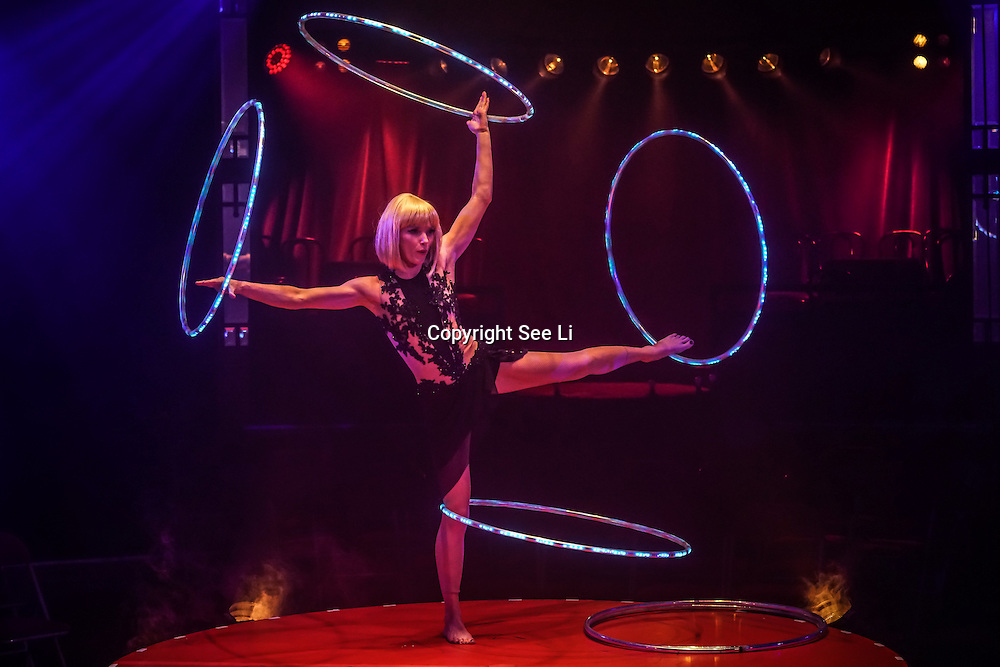 London,England,UK: 14th Nov 2016: Satya Bella preforms for the Photocall: La Soiree cabaret show at Christmas in Leicester Square, Soho, London,UK. Photo by See Li