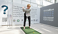 BRUSSEL- GOLF- DORIS PACK during EGA Golf Course Committee Exhibition of Golf at European Parliament.  FOTO KOEN SUYK