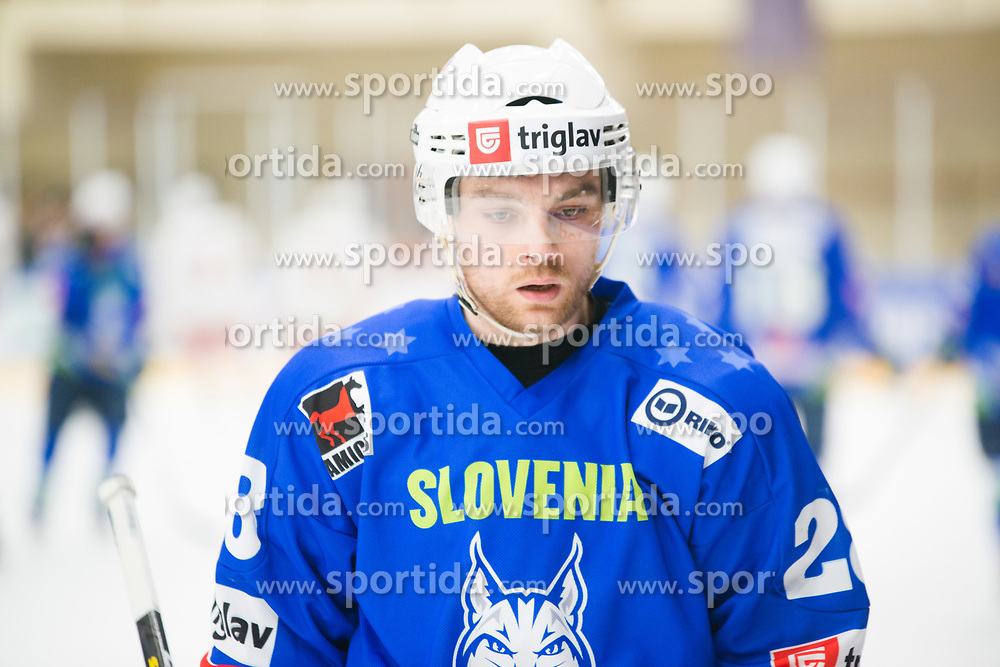 Maks Selan during Ice Hockey match between National teams of Slovenia and Belarus at International tournament Euro ice hockey Challenge 2019, on February 9, 2019 in Ice Arena Bled, Slovenia. Photo by Peter Podobnik / Sportida