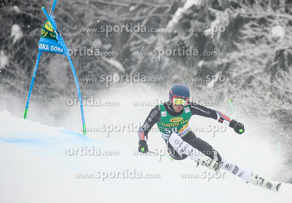 Adam Barwood of New Zeland competes during 1st run of Men's GiantSlalom race of FIS Alpine Ski World Cup 57th Vitranc Cup 2018, on March 3, 2018 in Kranjska Gora, Slovenia. Photo by Ziga Zupan / Sportida