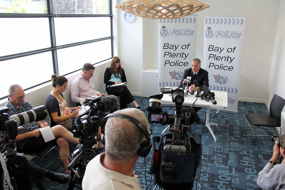 Detective Inspector Mark Loper at a media conference after police announced a $50,000 award for information relating to the 1986 disappearance of Luana Deborah Laverne Williams, Tauranga, New Zealand, Wednesday, November 20, 2013.Credit:SNPA / Cameron Avery