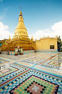 The main golden stupa at Sagain Hill