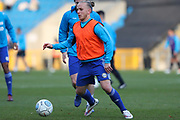 FC Halifax Town midfielder Matty Kosylo (7) warming up before the Vanarama National League match between FC Halifax Town and Dover Athletic at the Shay, Halifax, United Kingdom on 17 November 2018.