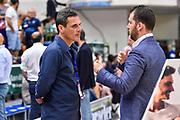 Matteo Solaini, Franesco Rigo<br /> Banco di Sardegna Dinamo Sassari - Umana Reyer Venezia<br /> LBA Serie A Postemobile 2018-2019 Playoff Finale Gara 4<br /> Sassari, 16/06/2019<br /> Foto L.Canu / Ciamillo-Castoria