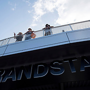 August 30, 2017 - New York, NY : People look out over the lip of the Grandstand as they attend the third day of the U.S. Open, at the USTA Billie Jean King National Tennis Center in Queens, New York, on Wednesday. <br /> CREDIT : Karsten Moran for The New York Times