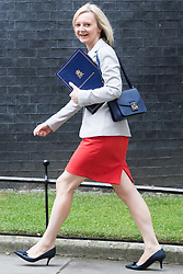 Downing Street, London, September 9th 2016.  Justice Secretary and Lord Chancellor Liz Truss arrives at Downing street for the weekly cabinet meeting following the Parliamentary summer recess.