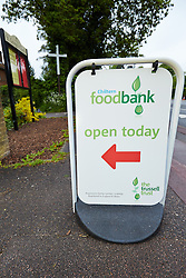 © Licensed to London News Pictures.  30/05/2013. LITTLE CHALFONT, UK. A food bank in St George's Church in Little Chalfont, Buckinghamshire and on the edge of the Chilterns. According to the Trussell Trust, the largest charity providing emergency food relief, use of their 325 food banks has tripled over the last year to 350,000. Photo credit: Cliff Hide/LNP