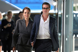 Image ©Licensed to i-Images Picture Agency. 13/06/2014.<br /> <br /> Brad Pitt and Angelina Jolie arrive at the End Sexual Violence In Conflict Global Summit 2014 at The ExCel, London, UK.<br /> <br /> Picture by i-Images