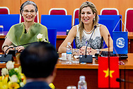 1-6-2017 - HANOI VIETNAM -  meeting with minister of finance  Dinh Tien Dung . Queen Maxima, in her capacity as Special advocate of the Secretary-General of the United Nations, for Inclusive Finance for Development, will visit the Socialist Republic of Vietnam on Tuesday, May 30, and Thursday, June 1, 2017. COPYRIGHT ROBIN UTRECHT <br /> <br /> 1-6-2017 - HANOI VIETNAM -   Gesprek met minister Dinh Tien Dung van Financi&euml;n.  Koningin Maxima bezoekt in haar hoedanigheid van speciale pleitbezorger van de secretaris-generaal van de Verenigde Naties voor inclusieve financiering voor ontwikkeling (inclusive finance for development) de Socialistische Volksrepubliek Vietnam van dinsdag 30 mei en met donderdag 1 juni 2017.  COPYRIGHT ROBIN UTRECHT NETHERLANDS ONLY !!