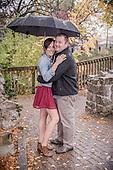 Brittany & Jakub's rainy day engagement photo shoot