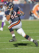 CHICAGO - OCTOBER 16:  Tight end Gabe Reid #82 of the Chicago Bears gets some yardage after a catch against the Minnesota Vikings at Soldier Field on October 16, 2005 in Chicago, Illinois. The Bears defeated the Vikings 28-3. ©Paul Anthony Spinelli *** Local Caption *** Gabe Reid