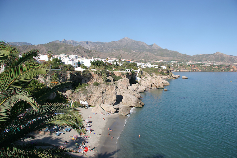 Nerja, Beach, Balcon de Europa, Costa del Sol, Spain