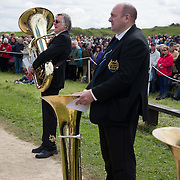 A REQUIEM FOR THE FOGHORN, PERFORMED BY SEVENTY FIVE BRASS PLAYERS, A FOGHORN AND AN ARMADA OF SHIPS<br /> A project by Danish artist, Lise Autogena, in collaboration with Joshua Portway and composer Orlando Gough. Ships horns from an armada of vessels off-shore, seventy five brass players on-shore and the Souter Lighthouse Foghorn  performed a Foghorn Requiem, an ambitious musical performance to mark the disappearance of the sound of the foghorn from the UK's coastal landscape.<br /> Conducted and controlled from a distance, ships at sea sounded their horns to a musical score, that will took into account landscape and the physical distance of sound. The performance took place by Souter Light House by South Shields, UK with 8-10.000 spectators and more than 50 ships off-shore.