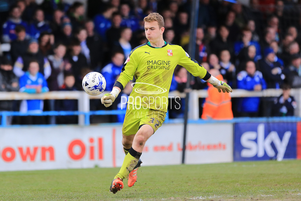 17 year old debut keeper Will Henry during the Sky Bet League 1 match between Rochdale and Swindon Town at Spotland, Rochdale, England on 30 April 2016. Photo by Daniel Youngs.