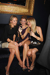 Left to right, NADIA AZLEN, FIONA KENT and LADY EMILY COMPTON at a party to celebrate the publication of the 2007 Tatler Little Black Book held at Tramp, 40 Jermyn Street, London on 7th November 2007.<br />