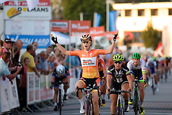 Amalie Dideriksen (Boels Dolmans) wins  the 103 km Stage 1 of the Boels Ladies Tour 2016 on 30th August 2016 in Tiel, Netherlands. (Photo by Sean Robinson/Velofocus).