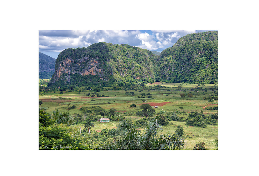 The Pinar del Río province in Cuba contains one of Cuba's three main mountain ranges, the Cordillera de Guaniguanico. These form a landscape characterized by steep sided limestone hills (called mogotes) and flat, fertile valleys. Viñales Valley, is a UNESCO World Heritage Site.