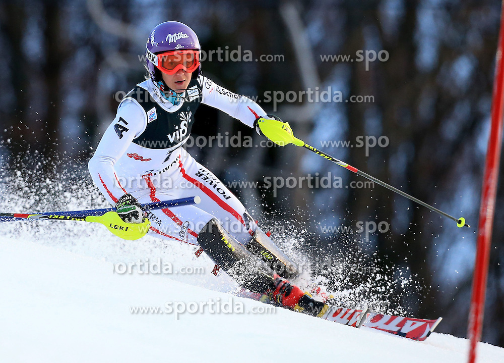 04.01.2013, Crveni Spust, Zagreb, AUT, FIS Ski Alpin Weltcup, Slalom, Damen, 1. Lauf, im Bild Michaela Kirchgasser (AUT) // Michaela Kirchgasser of Austria in action during 1st Run of the ladies Slalom of the FIS ski alpine world cup at Crveni Spust course in Zagreb, Croatia on 2013/01/04. EXPA Pictures © 2013, PhotoCredit: EXPA/ Pixsell/ Jurica Galoic..***** ATTENTION - for AUT, SLO, SUI, ITA, FRA only *****