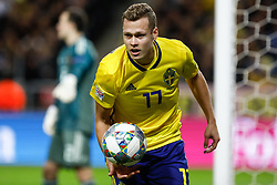 November 20, 2018 - Stockholm, Sweden - Viktor Claesson of Sweden during the UEFA Nations League B Group 2 match between Sweden and Russia on November 20, 2018 at Friends Arena in Stockholm, Sweden. (Credit Image: © Mike Kireev/NurPhoto via ZUMA Press)