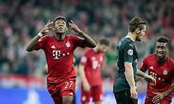 04.11.2015, Allianz Arena, Muenchen, GER, UEFA CL, FC Bayern Muenchen vs FC Arsenal, Gruppe F, im Bild Torjubel FC Bayern nach dem 3:0 durch David Alaba (FC Bayern) // during the UEFA Champions League group F match between FC Bayern Munich and FC Arsenal at the Allianz Arena in Munich, Germany on 2015/11/04. EXPA Pictures © 2015, PhotoCredit: EXPA/ JFK