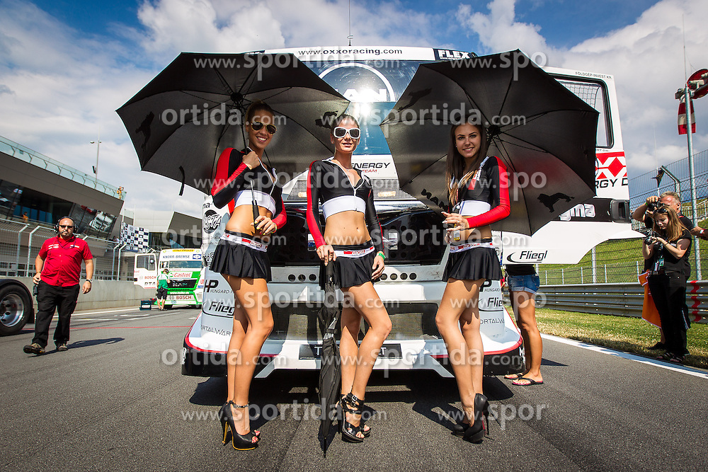 06.07.2013, Red Bull Ring, Spielberg, AUT, Truck Race Trophy, Renntag 1, im Bild feature Grid Girls // during the Truck Race Trophy 2013 at the Red Bull Ring in Spielberg, Austria, 2013/07/06, EXPA Pictures © 2013, PhotoCredit: EXPA/ M.Kuhnke