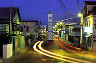 BELIZE / Belize City / Night view of Clock Tower Street...© JOAN COSTA
