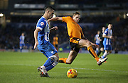 Brighton central midfielder, Beram Kayal (7) crosses during the Sky Bet Championship match between Brighton and Hove Albion and Wolverhampton Wanderers at the American Express Community Stadium, Brighton and Hove, England on 1 January 2016.