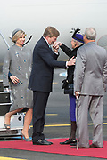 Staatsbezoek Denemarken - Dag 1. Aankomst van het Koninklijk gezelschap op vliegveld Kastrup<br /> <br /> State visit Denmark - Day 1. Arrival of the Royal Family at Kastrup airport<br /> <br /> op de foto / On the photo:  Koningin Margrethe met Prins Henrik en Koning Willem Alexander met Koningin Maxima / Queen Margrethe and Princess Henrik and King Willem Alexander and Queen Maxima