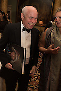 ANNETTE LOFTUS; STEVE MCCURRY, Professor Mikhail Piotrovsky Director of the State Hermitage Museum, St. Petersburg and <br /> Inna Bazhenova Founder of In Artibus and the new owner of the Art Newspaper worldwide<br /> host THE HERMITAGE FOUNDATION GALA BANQUET<br /> GALA DINNER <br /> Spencer House, St. James's Place, London<br /> 15 April 2015