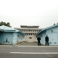 PANMUNJOM, MAY-16:  a view of the guard's house shared by South and North Korea that uilds the border between the 2 Koreas seen from the DMZ.