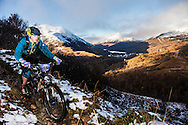 Tormod Doherty tackles stage one of the Kinlochleven Enduro.