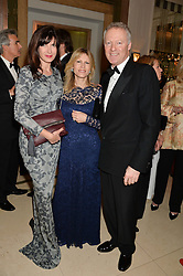 Left to right, RONNI ANCONA, SAMANTHA CORSELLIS and RORY BREMNER at the Tusk Friends Dinner in aid of wildlife charity Tusk held at Claridge's, Brook Street, London on 11th March 2014.