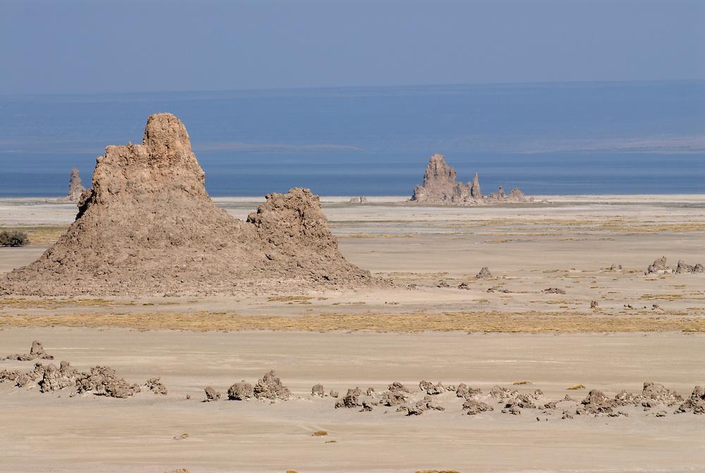 Rock formations on Lake Abbe,Djibouti