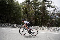 Omer Shapira (ISR) solo on the final climb at Amgen Tour of California Women's Race empowered with SRAM 2019 - Stage 2, a 74 km road race from Ontario to Mount Baldy, United States on May 17, 2019. Photo by Sean Robinson/velofocus.com