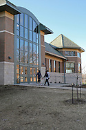 Students enter the Wartburg-Waverly Sports & Wellness Center on the campus of Wartburg College in Waverly, Iowa on Thursday March 19, 2009.