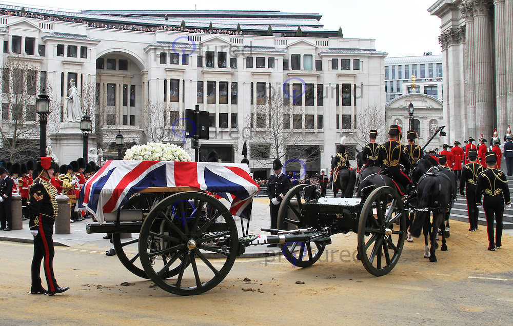Baroness Margaret Thatcher funeral, St Paul's Cathedral, London UK, 17 April 2013, (Photo by Richard Goldschmidt)