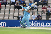 Jos Buttler cuts for 4 during the ICC Cricket World Cup 2019 warm up match between England and Australia at the Ageas Bowl, Southampton, United Kingdom on 25 May 2019.