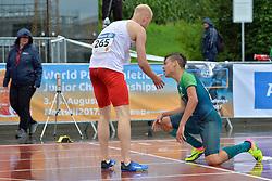 06/08/2017; de Souza, Samuel, T13, BRA, Nicpon, Jakub, POL at 2017 World Para Athletics Junior Championships, Nottwil, Switzerland