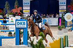 KREUZER Andreas (GER), Calvilot  <br /> München - Munich Indoors 2018<br /> Grosser Preis der Deutschen Kreditbank AG - Stechen<br /> Finale DKB-Riders Tour<br /> 25. November 2018<br /> © www.sportfotos-lafrentz.de/Stefan Lafrentz