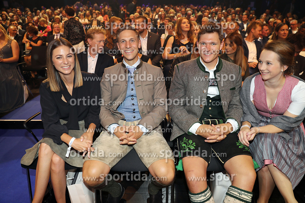 13.07.2019, BMW Welt, Muenchen, GER, Bayerischer Sportpreis Verleihung, im Bild In der ersten Reihe - Josef Ferstl und Thomas Dreßen mit, ihren Frauen Vroni und Birgit // during the Bavarian Sports Award at the BMW Welt in Muenchen, Germany on 2019/07/13. EXPA Pictures © 2019, PhotoCredit: EXPA/ SM<br /> <br /> *****ATTENTION - OUT of GER*****