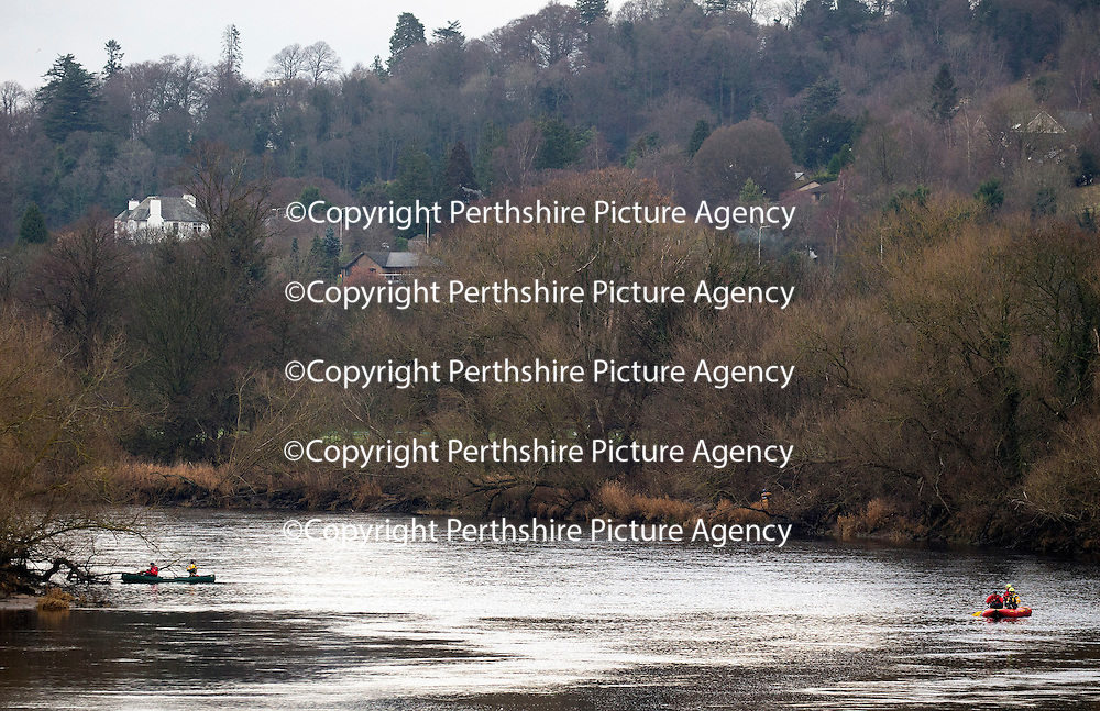 Searches continue in River Tay following concern for man in water, Perth&hellip;.20.12.16<br />Police, Coastguard and Firefighters in Perth searching the River Tay after a report of a man in the water at about 9.05pm yesterday evening (19.12.16) The man is believed to be vulnerable missing 20-year-old Iain Guthrie from Perth who was reported missing at 9.50pm last night..<br />Picture by Graeme Hart.<br />Copyright Perthshire Picture Agency<br />Tel: 01738 623350  Mobile: 07990 594431