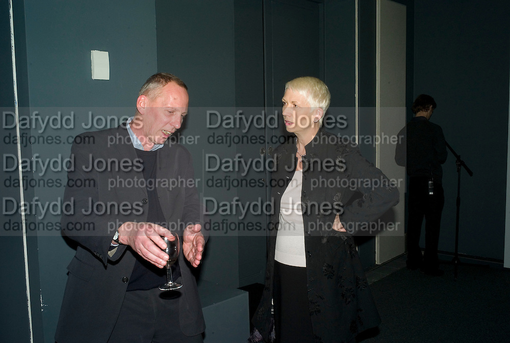 COLIN GLOVER ( DIRECTOR OF THE CONNECTION)  AND JUNE DENTON, Charing Cross: A Graphic Novel By Nils Norman. Book  launch. The Serpentine Gallery, London, W2, 17 March 2008.  Launch of new project exploring homelessness by British artist (Norman) - the result of his residency at organisation for homeless people, The Connection at St Martin-in-the-Fields. *** Local Caption *** -DO NOT ARCHIVE-© Copyright Photograph by Dafydd Jones. 248 Clapham Rd. London SW9 0PZ. Tel 0207 820 0771. www.dafjones.com.