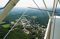 Aerial view of Colby Sawyer College in New London, NH