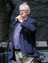 All Under One Banner March For Independence, Glasgow, Saturday 5th May 2018<br /> <br /> Thousands of people joined a march in support of Scottish Independence today in Glasgow.<br /> <br /> There were flags of many countries represented.<br /> <br /> Craig Murray addresses the huge crowd. <br /> <br /> Craig Murray is an author, broadcaster and human rights activist. He was British Ambassador to Uzbekistan from August 2002 to October 2004 and Rector of the University of Dundee from 2007 to 2010.<br /> <br /> Alex Todd | EEm