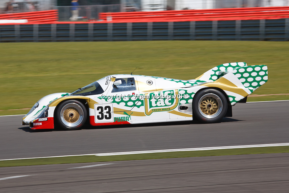 Porsche 962C Group C at Silverstone Classice 21/22 July 2012