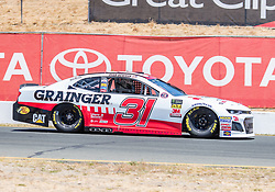 June 22, 2018 - Sonoma, CA, U.S. - SONOMA, CA - JUNE 22:  Ryan Newman, driving the #(31) Chevrolet for Richard Childress Racing on Friday, June 22, 2018 at the Toyota/Save Mart 350 Practice day at Sonoma Raceway, Sonoma, CA (Photo by Douglas Stringer/Icon Sportswire) (Credit Image: © Douglas Stringer/Icon SMI via ZUMA Press)