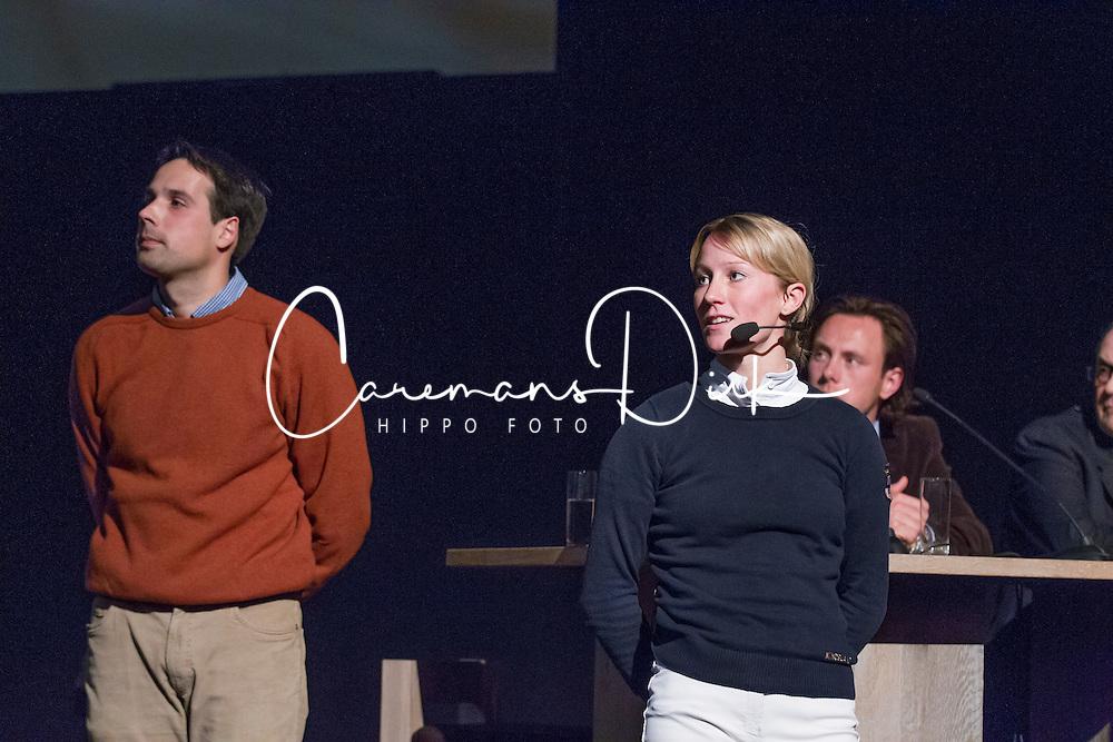"""Langehanenberg Helen and Hilberath Jonny (GER)<br /> """"The German system""""<br /> Global Dressage Forum - Academy Bartels <br /> Hooge Mierde 2012<br /> © Dirk Caremans"""