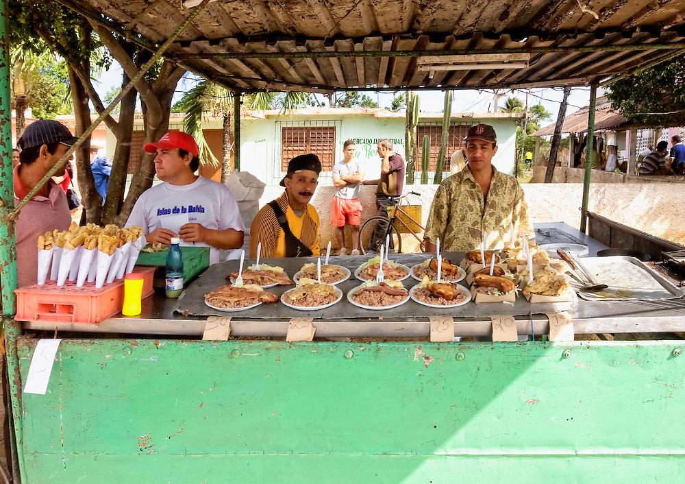 Food stand in Ciro Redondo, Ciego de Avila, Cuba.